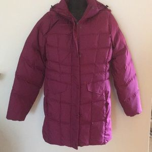 L.L. Bean Down Puffer Jacket . Raspberry